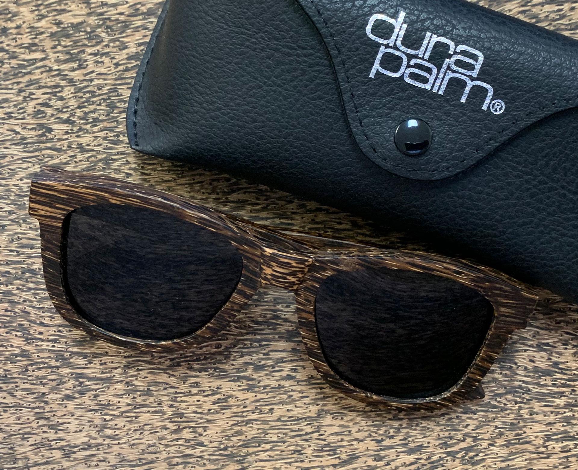 palmwood sunglasses and case