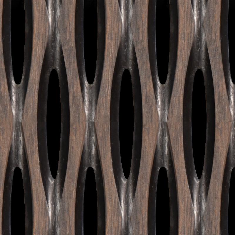 palm paneling texture - c5 noir