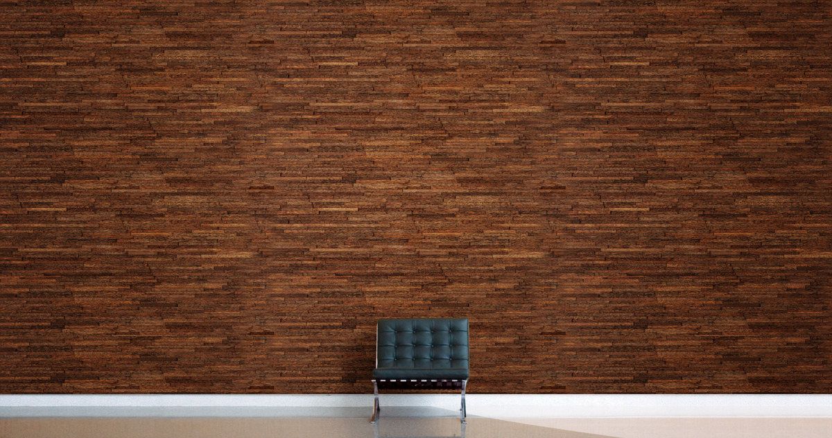 durapalm textured paneling - full wall view - coconut deco